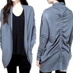 Lululemon transformation wrap sweater gray size 10